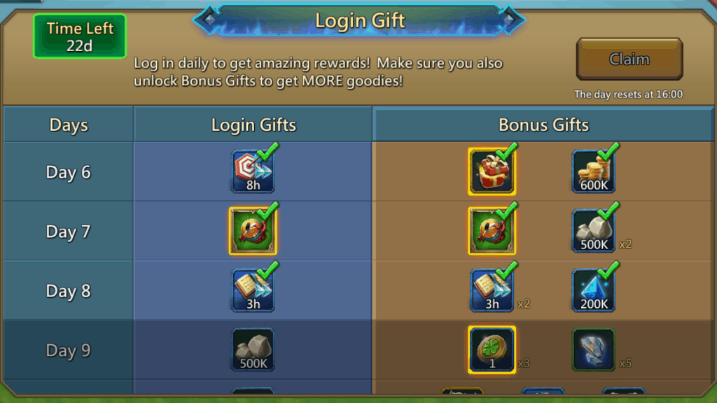Lords Mobile Login Gift